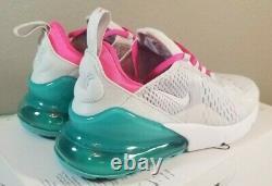 Nike Air Max 270 Chaussures De Course Blanc South Beach Ah6789-065 Femme Taille 8.5