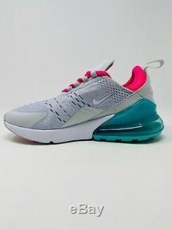 Nike Air Max 270 Chaussures De Course Blanc South Beach (ah6789-065) Femme Taille 6