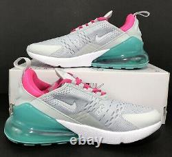 Nike Air Max 270 Chaussures De Course White South Beach Ah6789-065 Femmes Sz 8