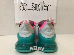 Nike Air Max 270 Femmes Gris Rose Blanc South Beach 2019 Ah6789-065 Taille 5.5