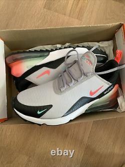 Nike Air Max 270 G South Beach Hot Punch Gray Chaussures De Golf Pour Hommes 9.5 Ck6483-024