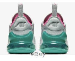 Nike Air Max 270 Gris Rose Blanc South Beach 2019 Ah6789-065 Wmns Taille 11 M 9.5