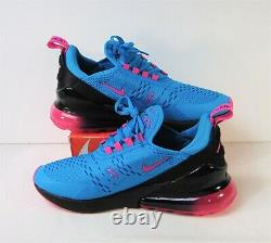 Nike Air Max 270 Gs South Beach Blue Fuchsia Running Shoe Sz 5.5y Nouveau Bv6376 400