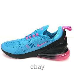 Nike Air Max 270 Hommes 11 Chaussures Miami South Beach Fuschia Bv6078 400 Nouveau