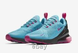 Nike Air Max 270 Hommes Taille 8.5 Chaussures Bv6078 400 Miami South Beach Fuschia