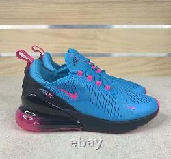 Nike Air Max 270 Miami Bleu Fury South Beach Taille 6.5y (femmes 8) Bv6376-400