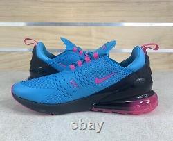 Nike Air Max 270 South Beach Blue Fury Laser Fuchsia Sz 12 Chaussures Bv6078-400