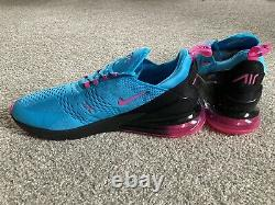 Nike Air Max 270 South Beach Chaussures Bleu Fury / Fuchsia Bv6078 400 Hommes Taille 15