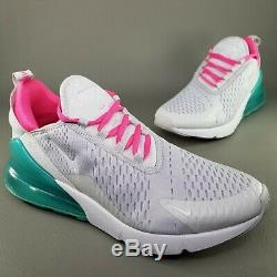 Nike Air Max 270 South Beach Chaussures De Course Womens Taille 10 Gris Athlétique Rose