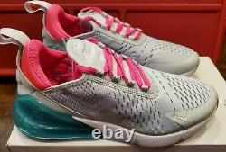 Nike Air Max 270 South Beach Platinum White Pink Ah6789-065 Taille Femme 7,5