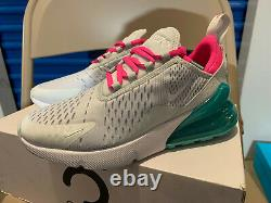 Nike Air Max 270 South Beach Running Shoes Femme Taille 6 Athletic Gray Pink