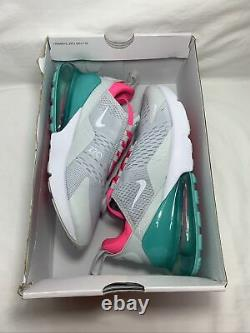 Nike Air Max 270 South Beach Taille Femme 10 Pr Pltnm/wht-pnk Blst Ah6789 065