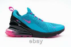 Nike Air Max 270 South Beach Taille Homme 11 Bleu Fuchsia Chaussures De Course Bv6078-400