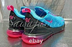 Nike Air Max 270 (gs) Miami Blue Fury South Beach Bv6376-400 Taille 5y Femmes 6,5