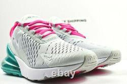 Nike Air Max 270 (taille Femme 9.5) Chaussures Ah6789 065 South Beach Platinum White