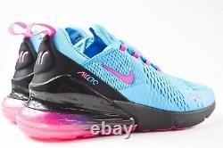 Nike Air Max 270 (taille Homme 10) Chaussures Bv6078 400 Miami South Beach Fuschia