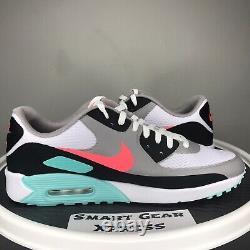 Nike Air Max 90 G Chaud Punch South Beach Golf Cleat Chaussures Hommes 12 Cu9978-133