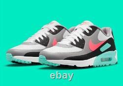 Nike Air Max 90 G Chaussures De Golf Hot Punch South Beach Sz M 10.5 Cu9978-133 Nouveau