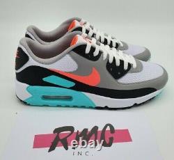 Nike Air Max 90 G South Beach Vice Hot Punch Blanc Chaussures De Golf Cu9978-133 Sz 11.5