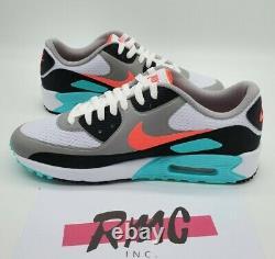 Nike Air Max 90 G South Beach Vice Hot Punch Blanc Chaussures De Golf Cu9978-133 Sz 9.5