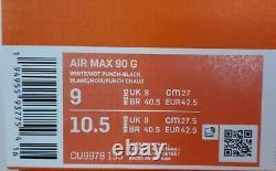 Nike Air Max 90 G South Beach Vice Hot Punch Chaussures De Golf Blanc Cu9978-133 Sz 9