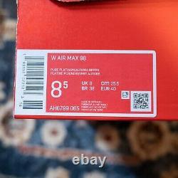 Nike Air Max 98 South Beach Blanc Noir Rose Femmes Chaussures Taille 8.5 Ah6799-065