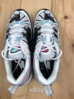 Nike Air Max 98 South Beach Blanc Noir Rose Femmes Chaussures Taille 9 Ah6799-065