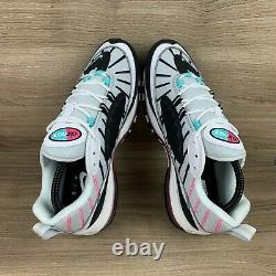 Nike Air Max 98 South Beach Blanc Noir Rose Vert Chaussures Femme Sz 10 Ah6799-065