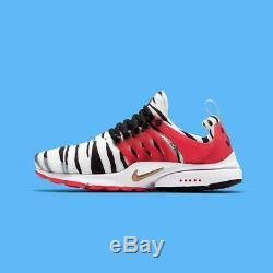 Nike Air Presto Corée Du Sud Tiger Stripe Blanc Noir Bleu Rouge Unisexe Cj1229-100