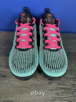 Nike Air Vapormax Flyknit 3 Gs Hyper Turquoise Pink South Beach 6y Femmes 7,5