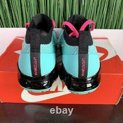 Nike Air Vapormax Flyknit 3 South Beach Teal Noir Hommes Taille 8.5/ Femmes Taille 10