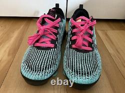 Nike Air Vapormax Flyknit 3 South Beach Turqoise/pink Sz 7y (w 8.5) Bq5238-300