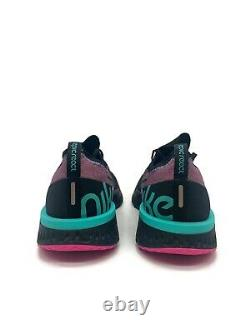 Nike Epic React Flyknit Hommes South Beach Black Hyper Jade Bv1572-001 Taille 10