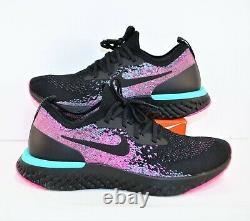 Nike Epic React Flyknit South Beach Chaussures De Course Noir Sz 10 Nouveau Bv1572 001