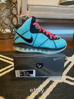 Nike Lebron 8 Qs South Beach Hommes Taille 7 Cz0328-400 En Main/ Expédition Rapide