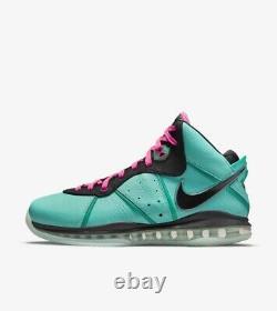 Nike Lebron 8 South Beach 2021 Hommes Taille 11 Cz0328-400 En Main