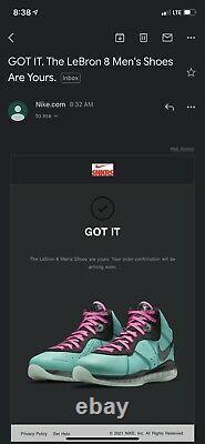 Nike Lebron 8 South Beach 2021 Taille 10 Nouveaute Avec La Box Authentique Dans La Main