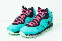 Nike Lebron 8 South Beach 2021 Taille 11m Brand New Never Worn Ships Dès Que Possible