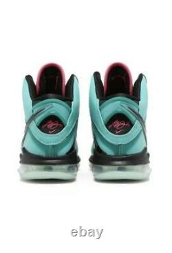 Nike Lebron 8 South Beach 2021 Taille 12.5 Cz0328-400 Ordre Rétro Expédié