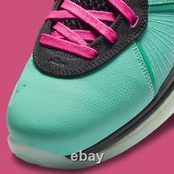 Nike Lebron 8 South Beach Hommes Taille 10 Cz0328-400 Livraison Gratuite