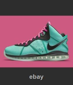 Nike Lebron 8 South Beach Hommes Taille 7 Cz0328-400 Free Shapping