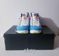 Nike Mens Sz 12 Air Jordan 6 Six Rings Chaussures Blanches/ Blue South Beach Ck0018-100