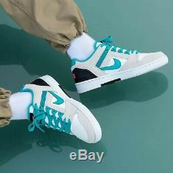 Nike Sb Air Force 2 Athletic Low Chaussures South Beach 11,5 Nebula Bleu-blanc-noir