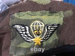 Officier Aéroporté Sud-vietnamien Original Ranger Lldb Béret Taille 57