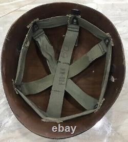 Original Vietnam War-south Vietnam Military Police (quân Cnh) Casque Liner 1973