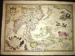 Ortelius Indiae Orientalis 1588 Originale Asie Du Sud-est / Australie