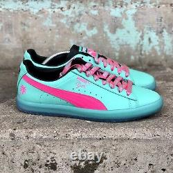 Puma Mens Shoes Taille 11.5 South Beach Heat Miami Vice Clyde Palm Trees Baskets