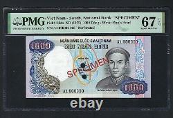 South Vietnam 1000 Dong Nd (1975) Spécimen De P34as Non Circulé Grade 67