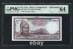 South Vietnam 20 Dong Nd(1966) Spécimen P20s1 Non Circulé Grade 64