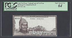 South Vietnam 200 Dong Nd 1966 P20p Die Proof Obverse Uncirculated